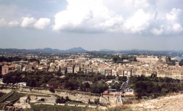 Blick von der Alten Festung auf Kerkyra