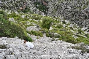 Torrent de Pareis - beim Abstieg verfranzt