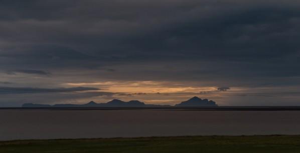 Abendsonne über den Westmännerinseln