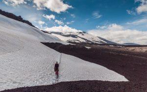 Schneefelder auf der Hekla