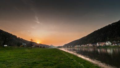 Die Elbe bei Bad Schandau