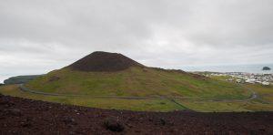 Vulkankegel aus dem Bilderbuch