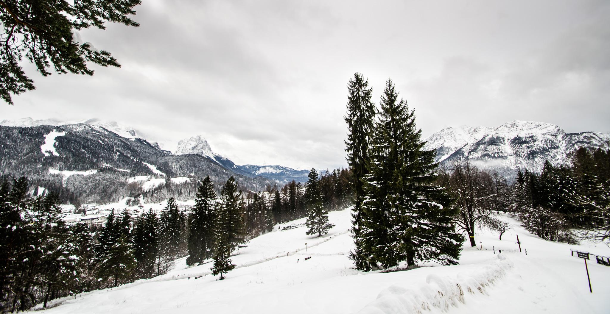 Schnee in Garmisch-Partenkirchen